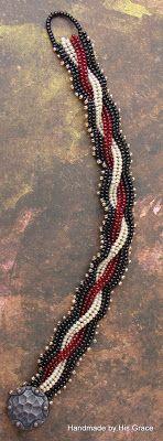 Handmade by His Grace: Cabled Herringbone Bracelet