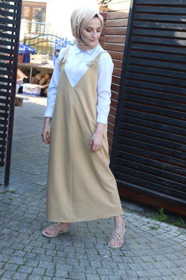 Halat detaylı salopet & jile elbise