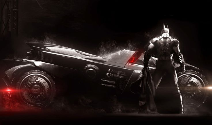 Vídeo Game Batman: Arkham Knight  Batman Batmobile Papel de Parede