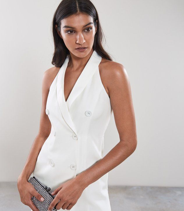 new authentic lower price with official supplier REISS - SINEAD SLEEVELESS TUXEDO DRESS | Dresses, Tuxedo dress ...