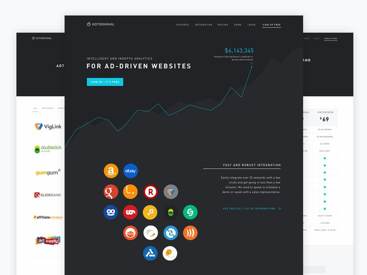 Dribbble - Adterminal Marketing Website by Chris Griffith