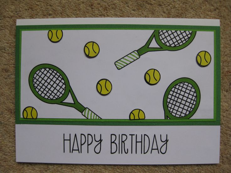 26 best tennis cards images on pinterest tennis mens birthday a tennis themed card m4hsunfo Choice Image