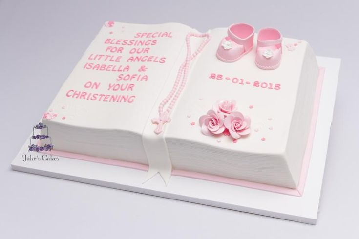 Open Book Christening Cake - Cake by Jake's Cakes