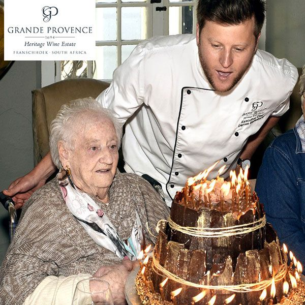 Grande Provence pulled out all the stops to spoil one of Franschhoek's oldest residents, Tannie Thelma van Rensburg, by treating her and her friends to an unforgettable 100th birthday tea.