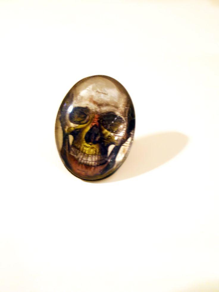 Skull Ring for Women - Anatomy Ring - Human Skull Ring - Anatomy - Human Skull - Gift for Doctor - Anatomy Art - Women's Skull Ring - Ring by RainsWonderland on Etsy