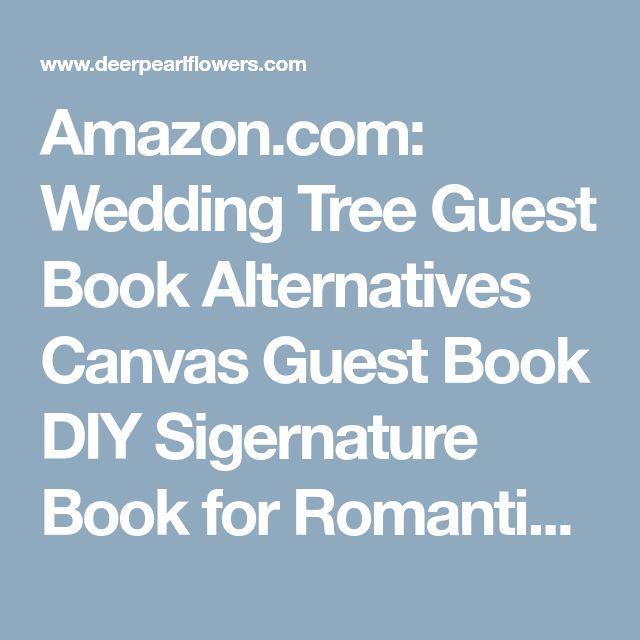 Amazon.com: Wedding Tree Guest Book Alternatives Canvas Guest Book DIY Sigernature Book for Romantic Wedding Party 30X40CM: Home & Kitchen
