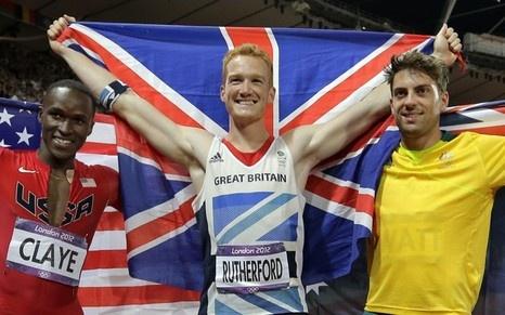 Britain's gold medal winner Greg Rutherford