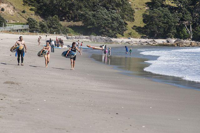 at the Bay of plenty New Zealand