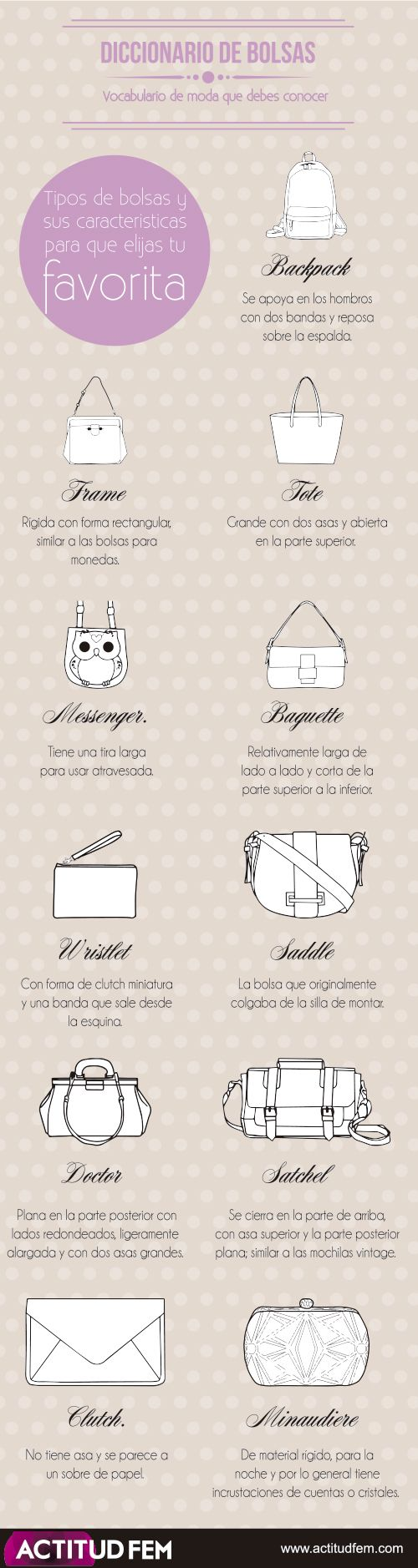 tipos de bolsos