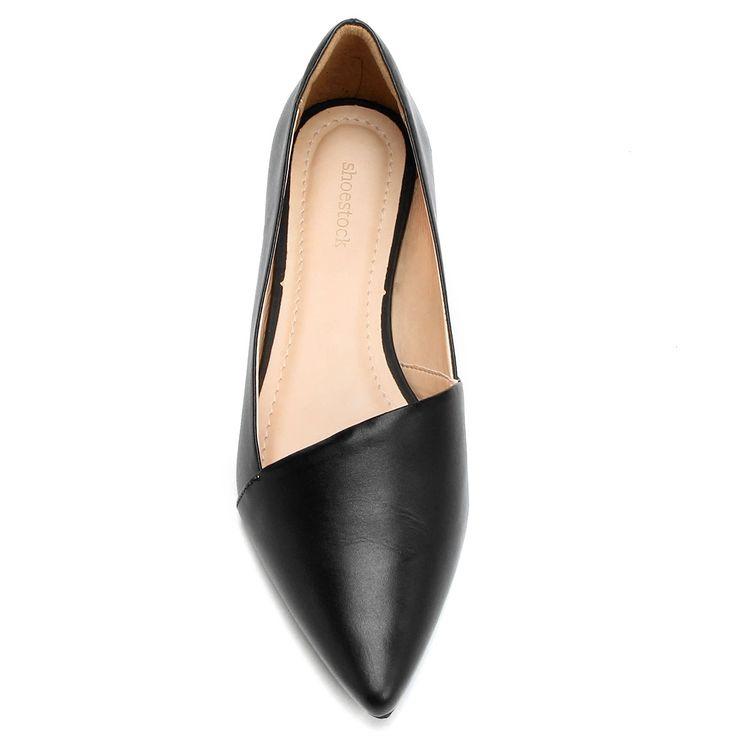 Sapatilha Shoestock Recorte Minimal Preto | Zattini