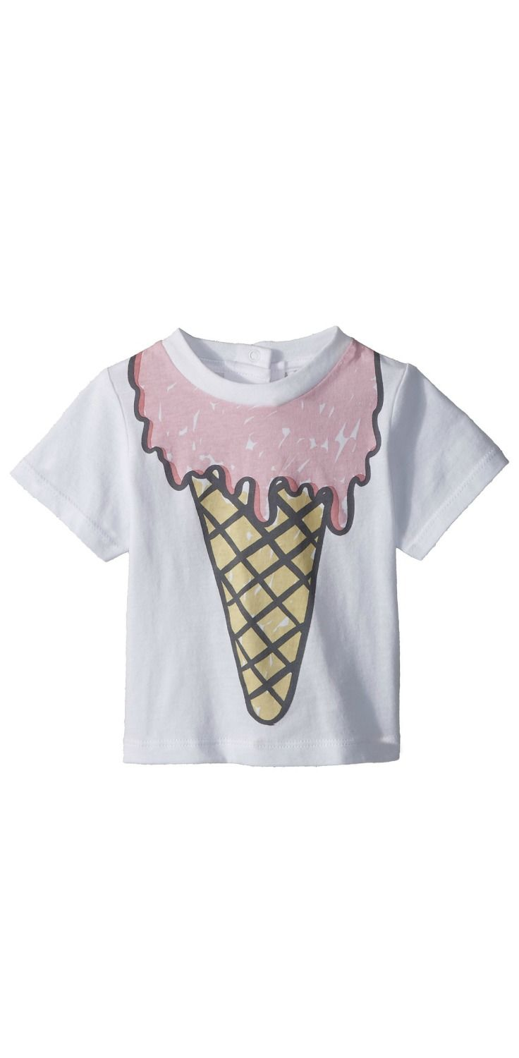 If you've got a lick of good sense, then you'll scoop up this sweet treat, the delicious #StellaMcCartney Chuckle #Ice #Cream #T-Shirt. #girls #child #children #childrenswear #apparel #clothing #tops #tees #t-shirts