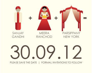 Creative Indian save the date; love the illustrations! -S