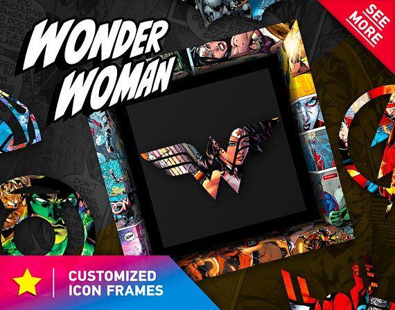 Wonder Woman Superhero Dc Comics Art Print Gift Idea Birthday