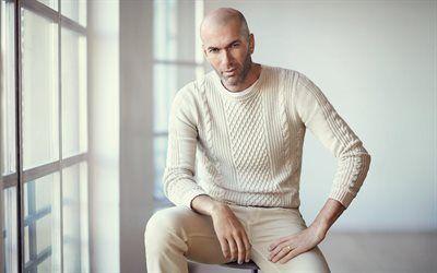 Scarica sfondi zinedine zidane, calcio, allenatore, il real madrid