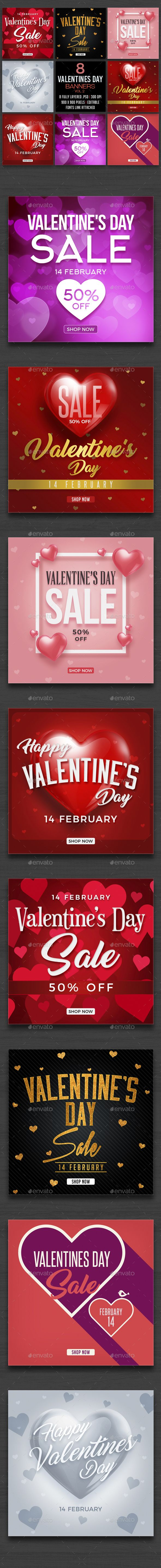 Valentines Day Banners Vol1 - Banners & Ads Web Elements