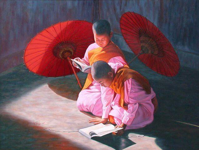 Aung Kyaw Htet - oil canvas Painting