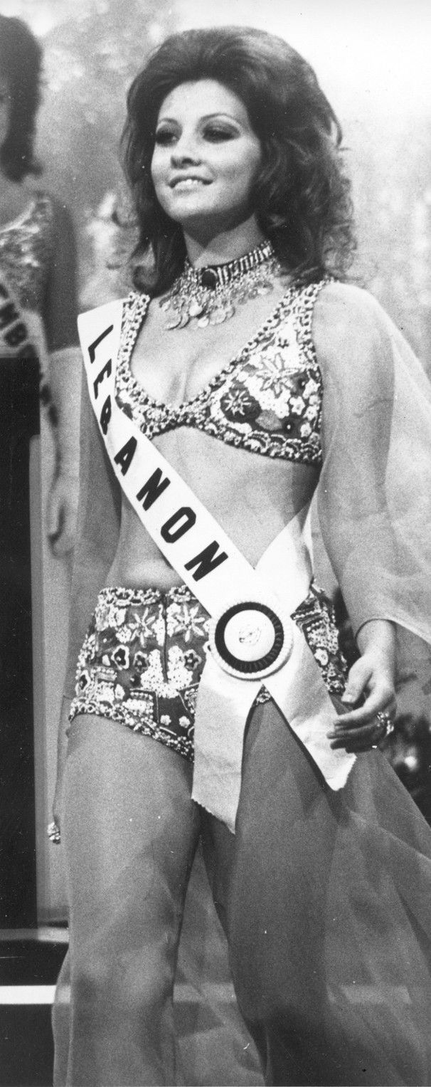 1971: The year Miss Universe Georgina Rizek proved that Lebanese Beauty is one of its kind!