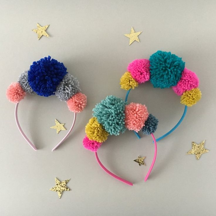 Pom-pom headbands by The Sewcial Circle