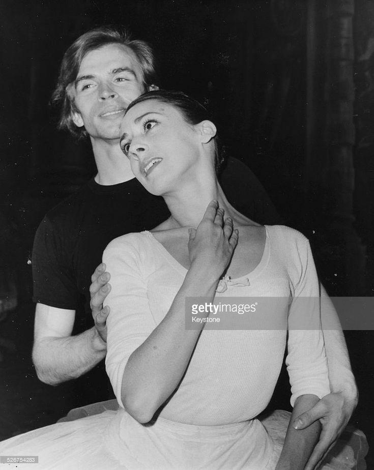 Portrait of ballet dancers Rudolf Nureyev and Annette Page, following the…