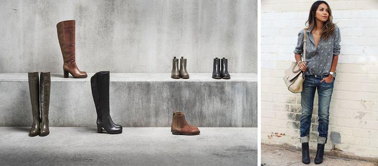 Wir lieben den Herbst mit Schmuddelwetter, kalten Morgen und frischer Brise. Warum? Weil das die perfekten Bedingungen für Stiefel, Boots und Stiefeletten sind...