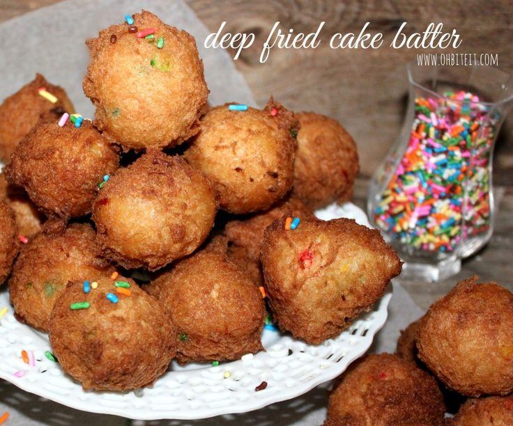 ~Deep Fried Cake Batter! | Oh Bite It