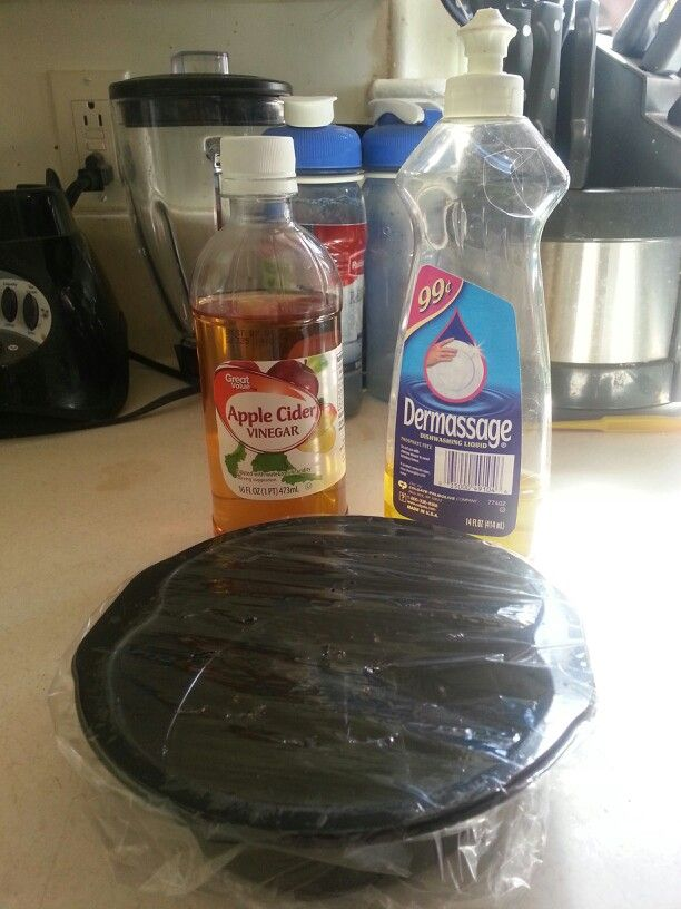 Got fruit flies? Put some apple cider vinegar & dish soap in a bowl. Cover it with plastic wrap & poke a few small holes into it, then leave it out. Viola! Homemade bug killer.