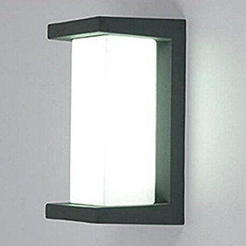 Glighone Applique Murale Extérieur Intérieur LED 10W Moderne Étanche