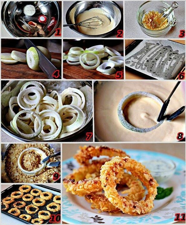 Baked onion rings! | Recipes to Cook | Pinterest