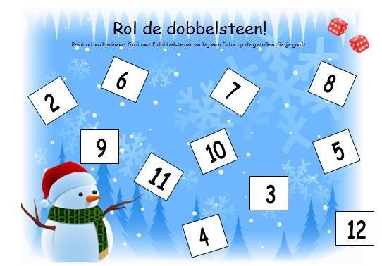 Rol de dobbelsteen, spel voor kleuters. Winter kleuters | Thema, Lesidee Juf Anke