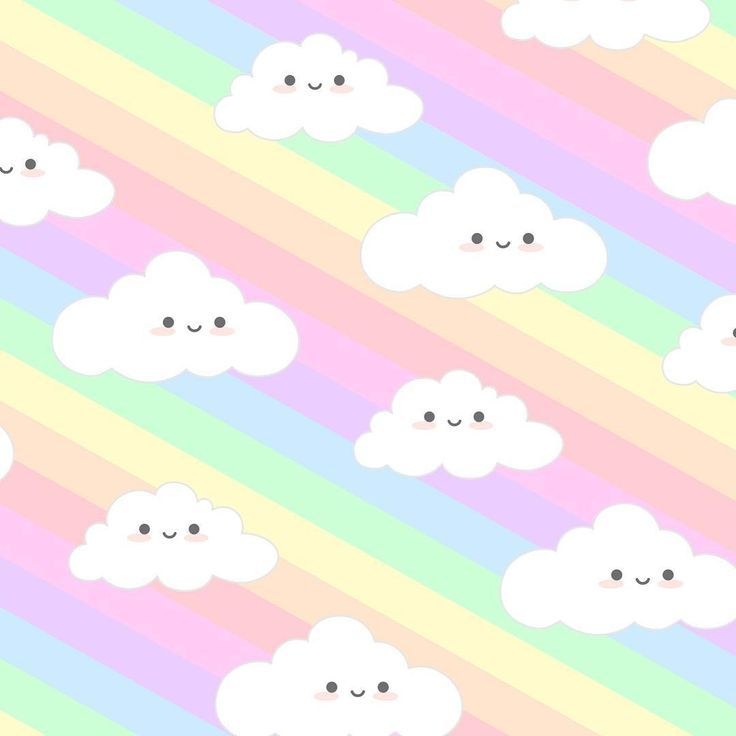 Rainbow Happy Clouds Sky Doodle This Would Make Such A Cute Phone