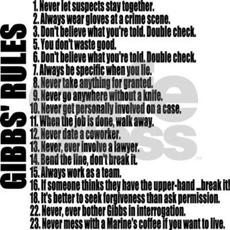 Gibbs Rules Mugs