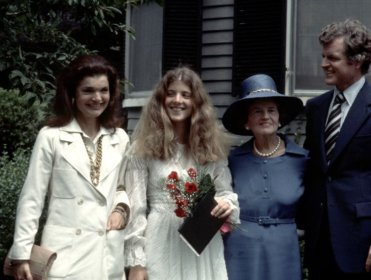 Jackie Onassis, Caroline Kennedy, Rose Kennedy, and Ted Kennedy (Photo by Ron Galella/WireImage) via @AOL_Lifestyle Read more: https://www.aol.com/article/entertainment/2017/04/12/jackie-kennedy-onassis-alec-baldwin-date/22036995/?a_dgi=aolshare_pinterest#fullscreen