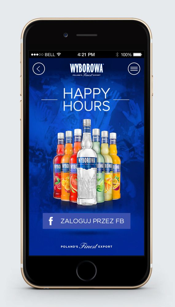 Hologram – Digital Product, User Experience and Visual Design › Happy Hours Mobile App