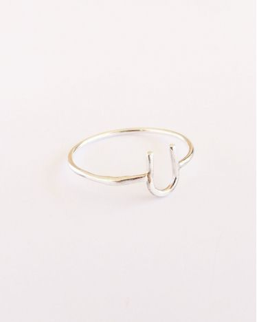 horse shoe ring.