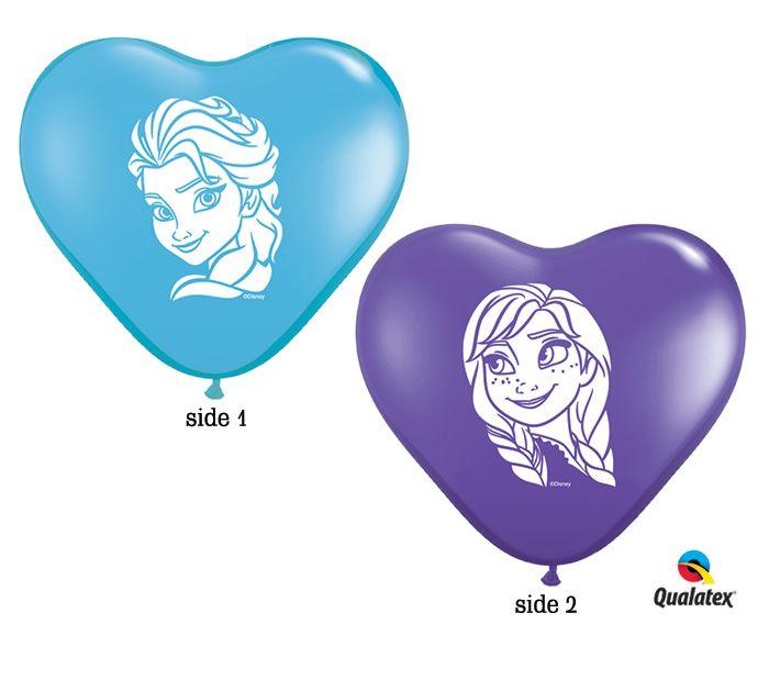 "We ""HEART"" these Frozen Anna and Elsa Balloons!  #burtonandburton #frozen"