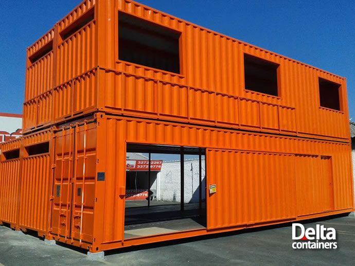 Delta containers in the box container home design eco for Steel shipping container home designs