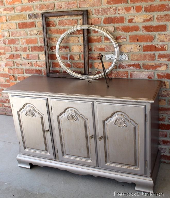 10 Best Metallic Furniture Images On Pinterest Painted Furniture Refurbished Furniture And