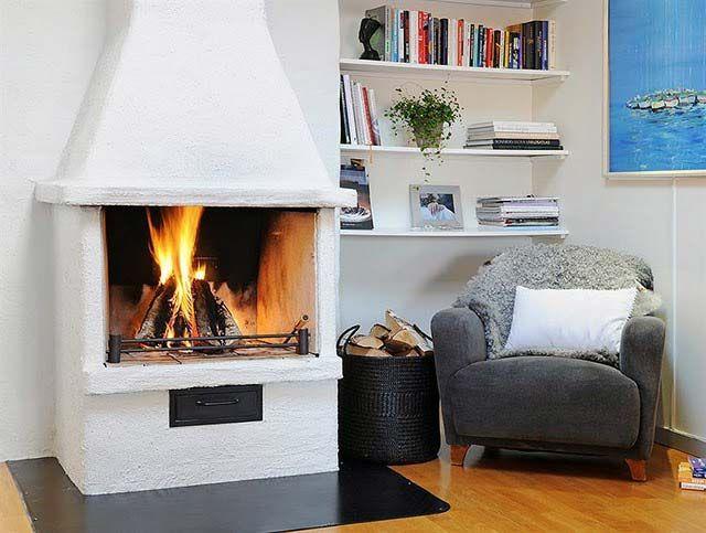 Fireplace in a modern interior - декоративные камины