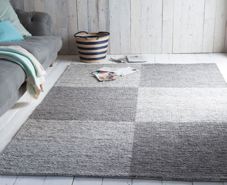 Loaf's Weaver rug is a lovely two-tone grey, handmade floor rug