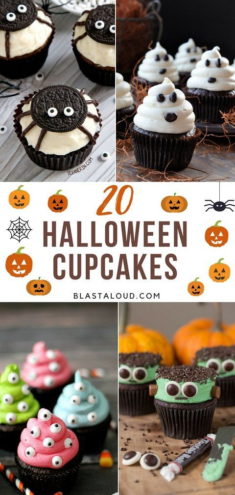 20 Easy Halloween Cupcake Decorating Ideas For Kids And Adults Alike - decorating ideas for halloween cupcakes