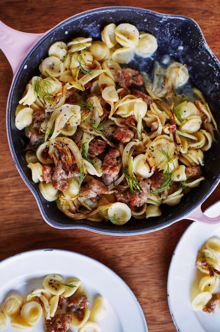 Orecchiette with Caramelized Fennel and Spicy Sausage Recipe. Add this ...