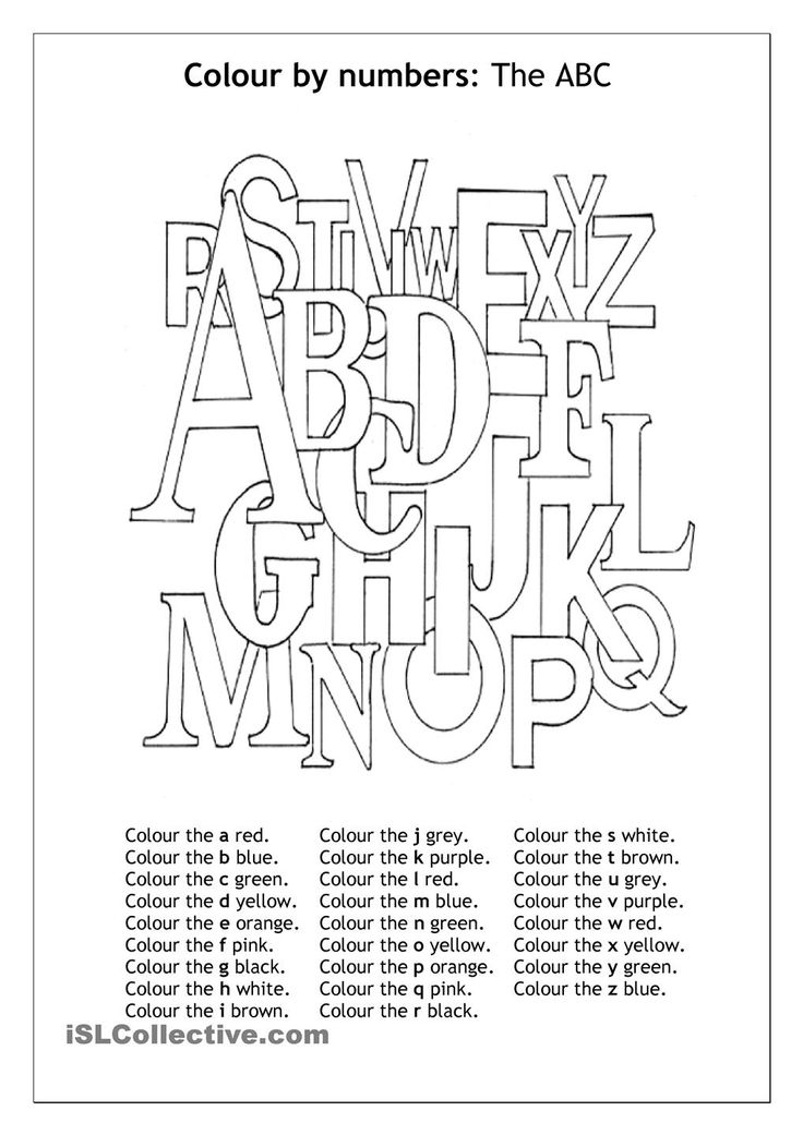 Colour By Number The ABC Worksheet