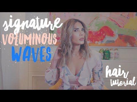 My Signature Voluminous Waves Tutorial - YouTube