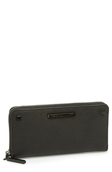 Rebecca Minkoff 'Ava' Zip Wallet at Nordstrom.com. Sleek and stylishly studded, this scratch-resistant Saffiano leather wallet is the perfect size for your on-the-go essentials.