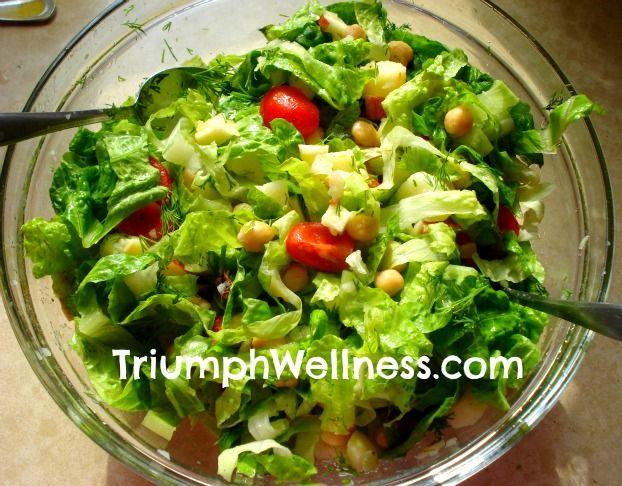 Dr. Fuhrman's Vegan Greek Salad is delicious and healthy!