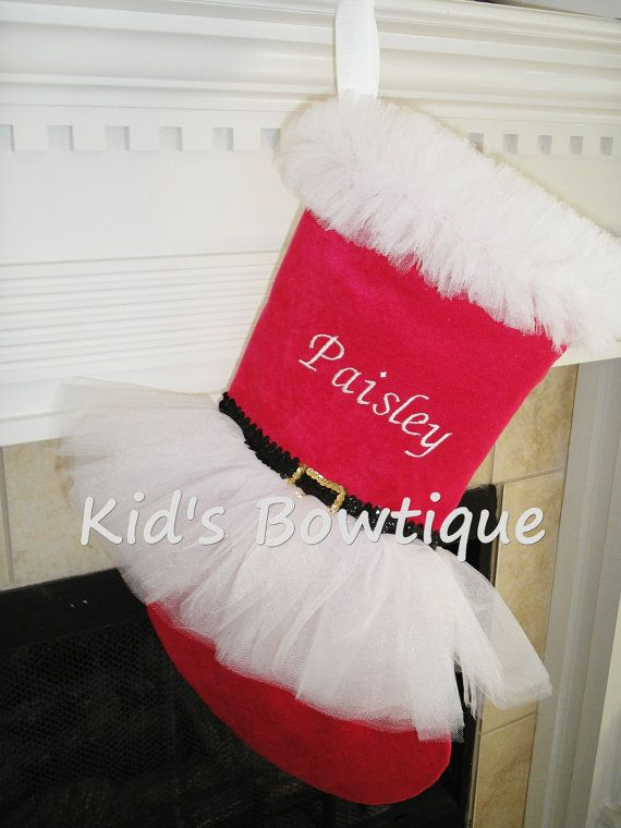 claus white tutu by on etsy christmas stockings