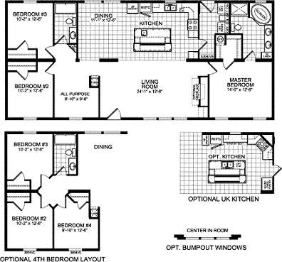 Double Wide Mobile Home Floor Plans