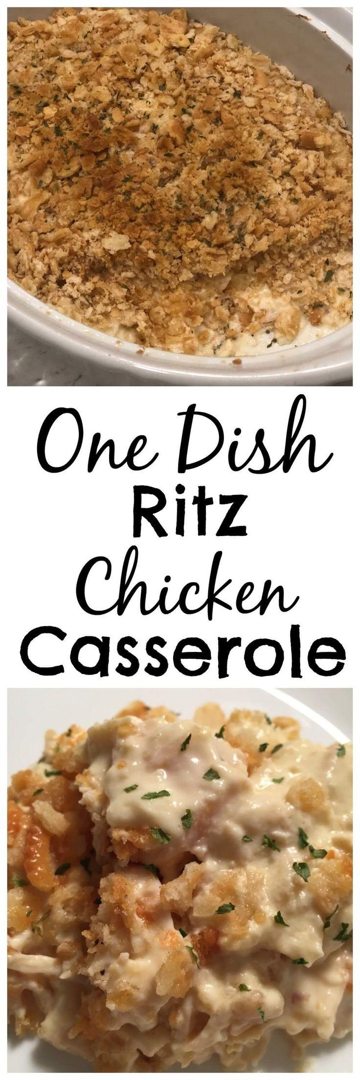 One Dish Ritz Chicken Casserole
