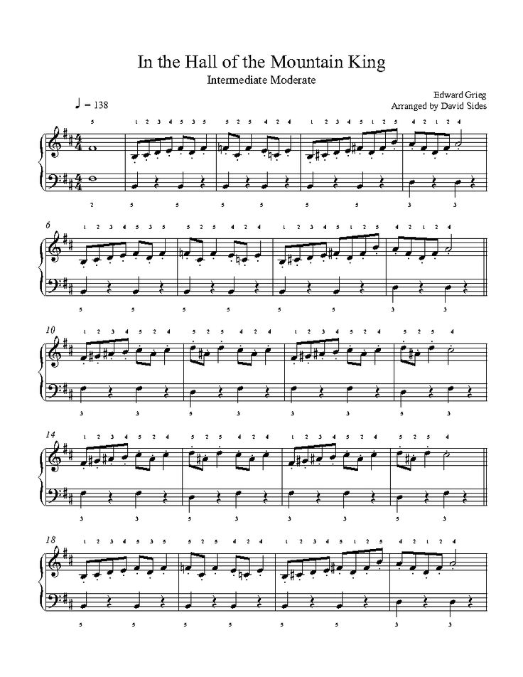 In the Hall of the Mountain King by Edward Grieg Piano