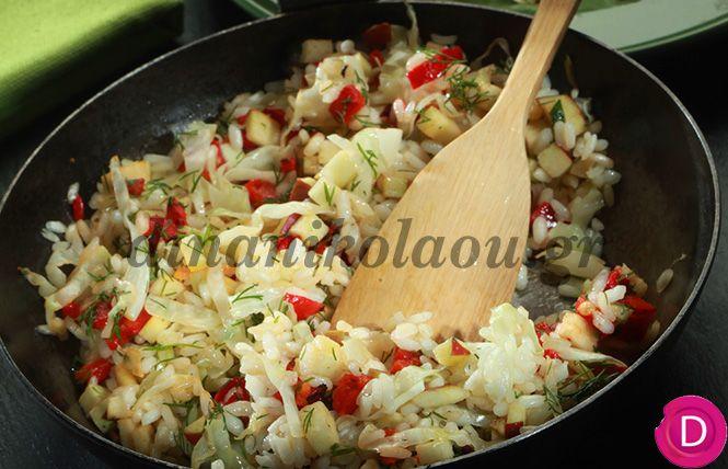 Ριζότο με λάχανο πολίτικο   Dina Nikolaou